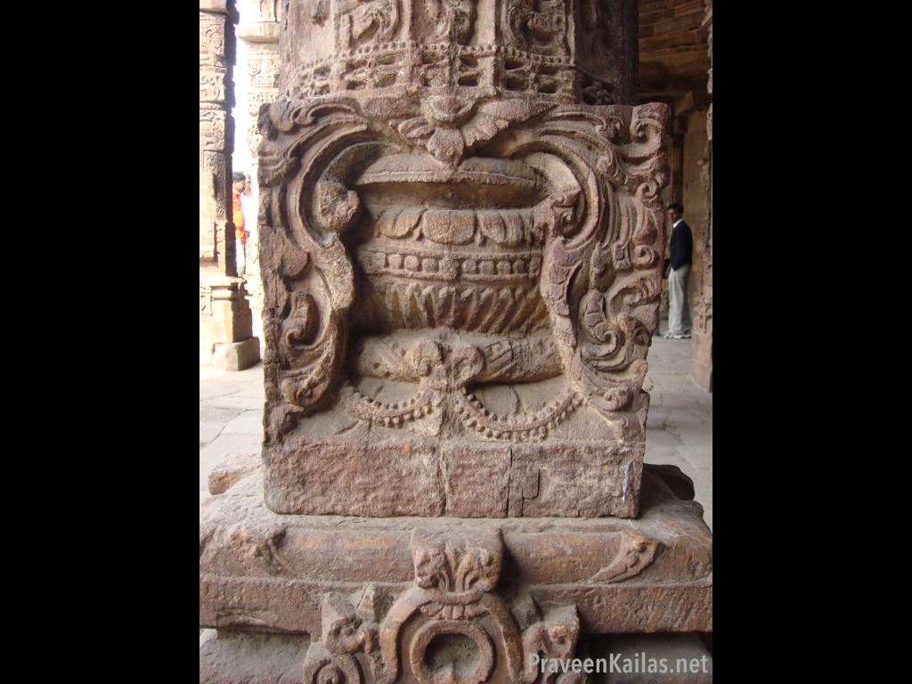 Praveen Kailas Char Minar Carved Pillar Detail