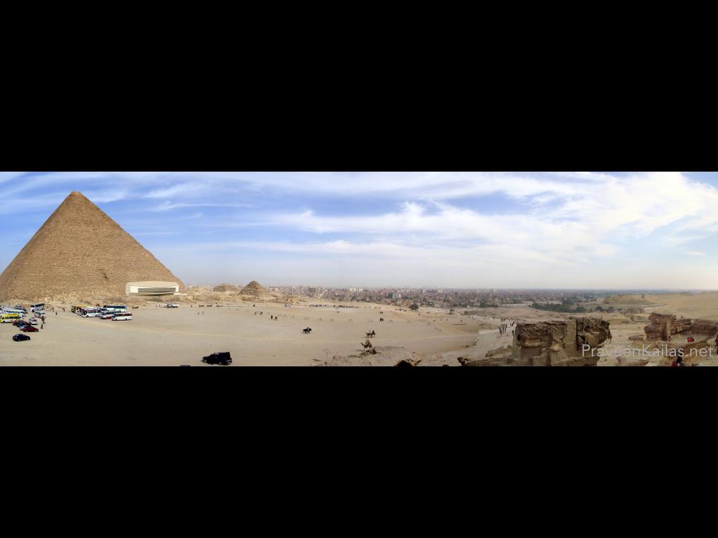 Praveen Kailas Panoramic Photo of Great Pyramid